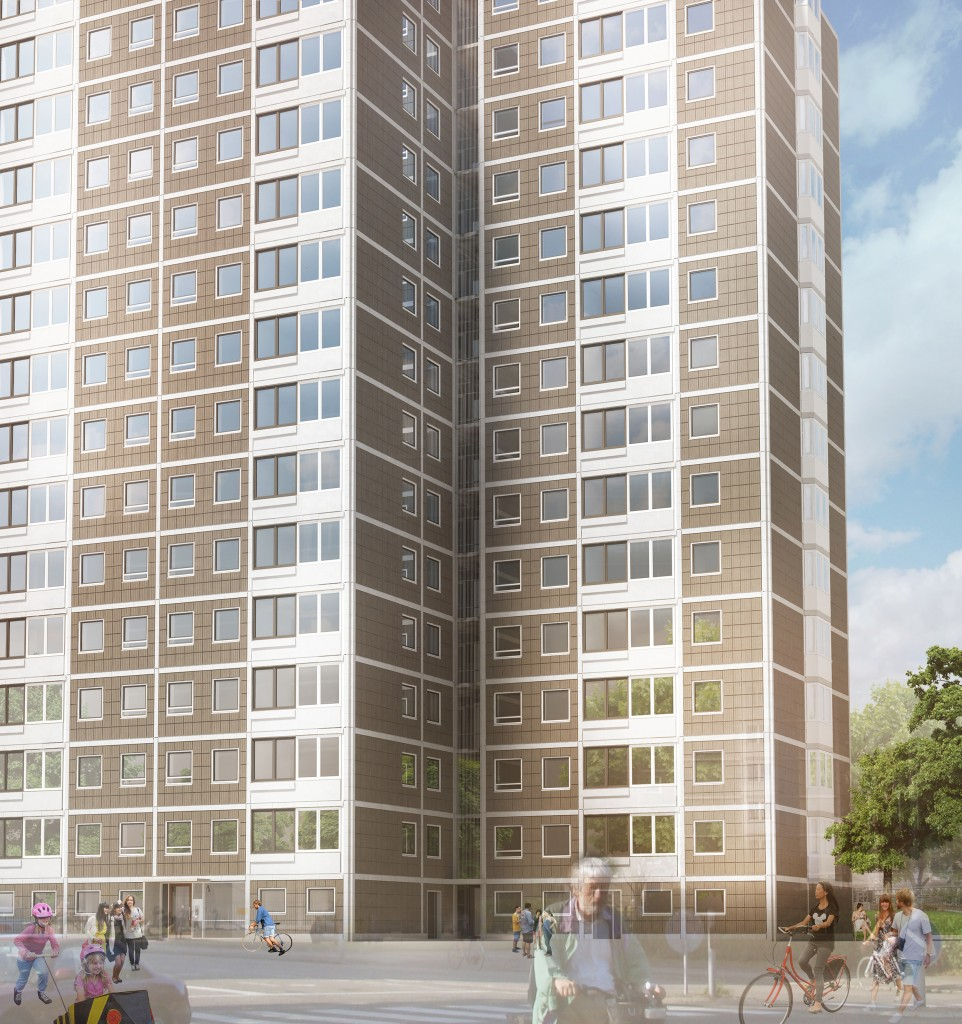 forslag til nye facader