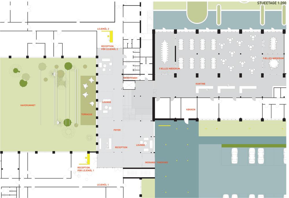 planudsnit fællesareal fra skitseforslag