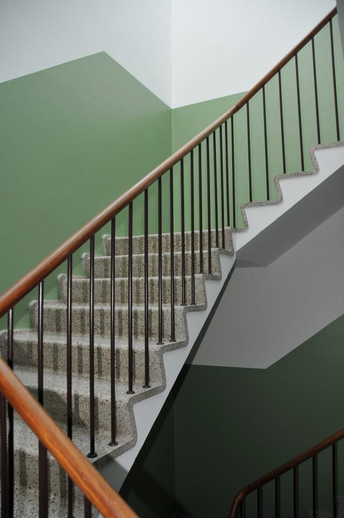 opgang med oprindelig trappe