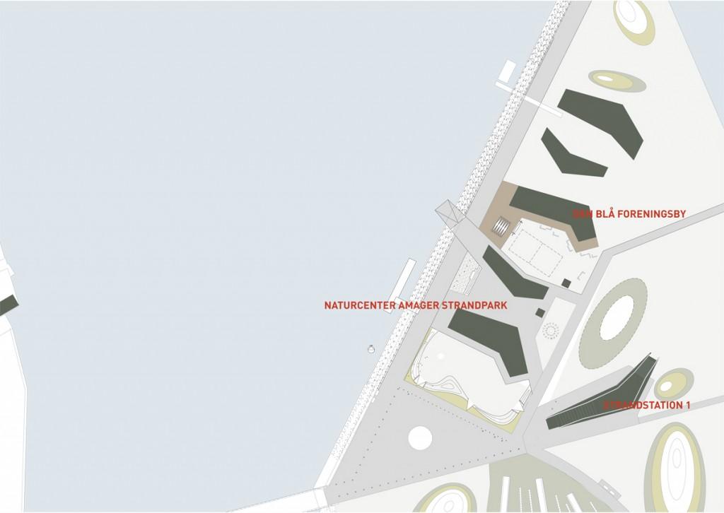 Situations plan med fremtidige byggefelter