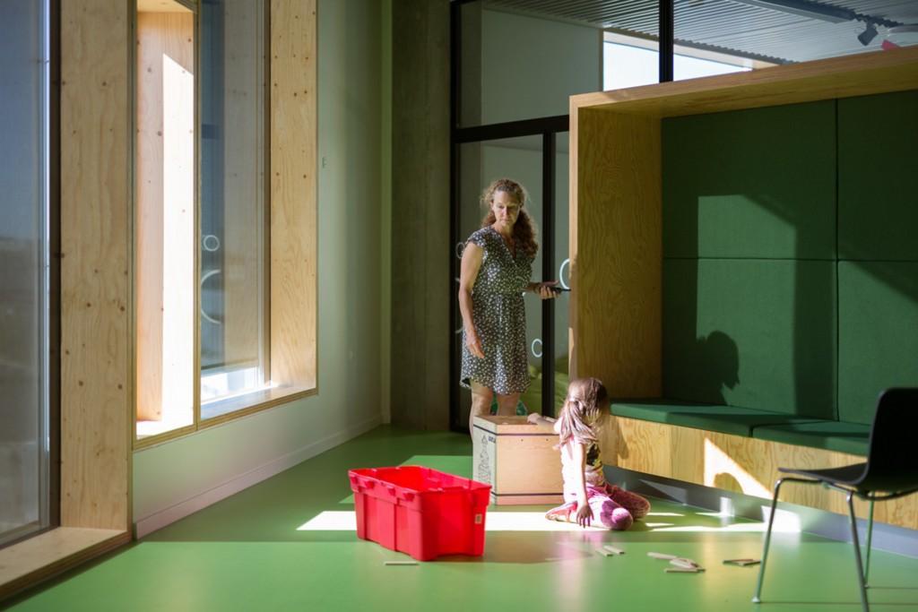 Funktionsboks mellem undersvisningslokale og fællesområde_foto Torben Eskerod