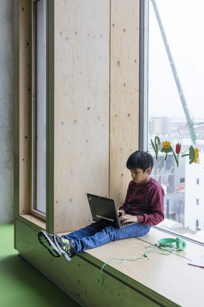 Siddevindue i undervisningslokale_foto Torben Eskerod