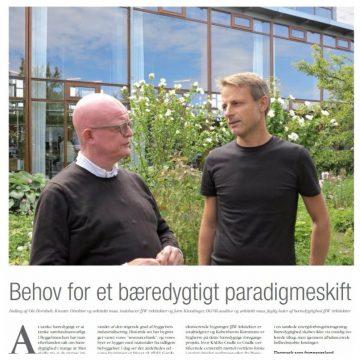 BEHOV FOR ET BÆREDYGTIGT PARADIGMESKIFT