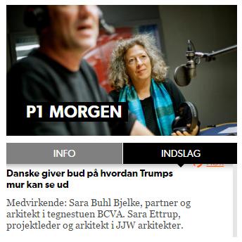 SARA ETTRUP OM TRUMPS MUR I P1 MORGEN