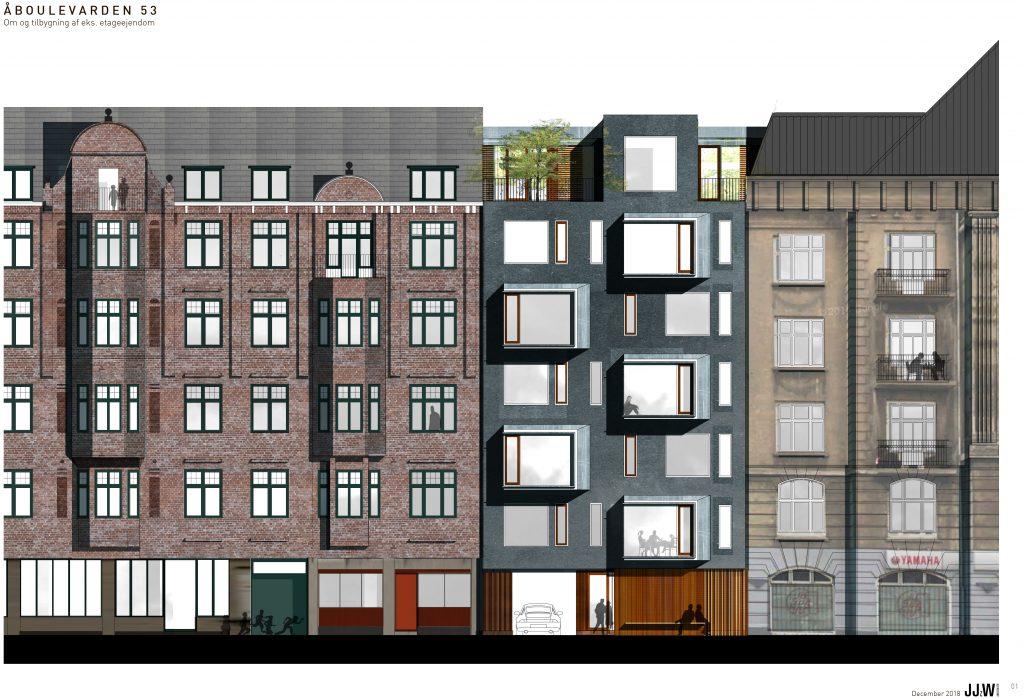 Ny facade mod Åboulevarden