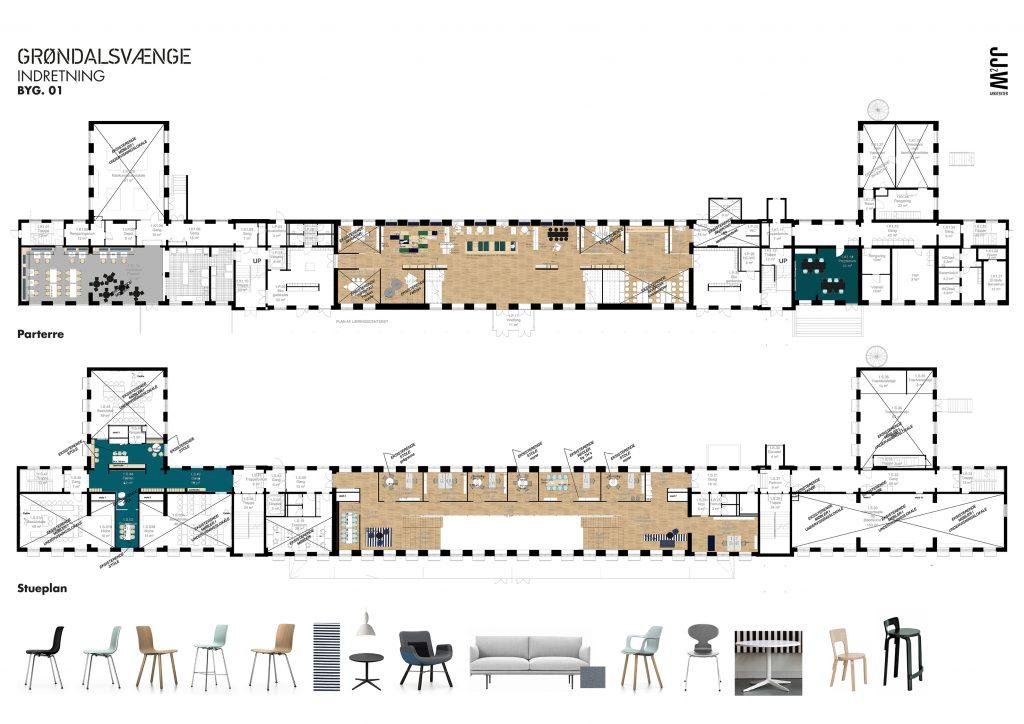Transformeret eks. skolebygning stueetage/ læringscenter
