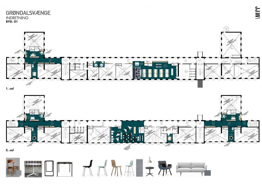 Transformeret eks. skolebygning 1.sal/ udskolinng