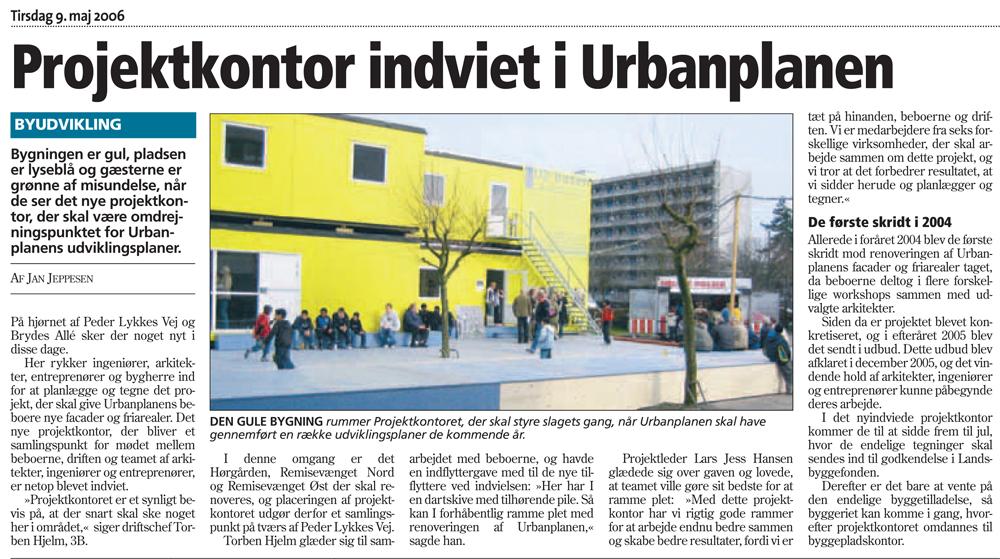 Projektkontor i Amagerbladet