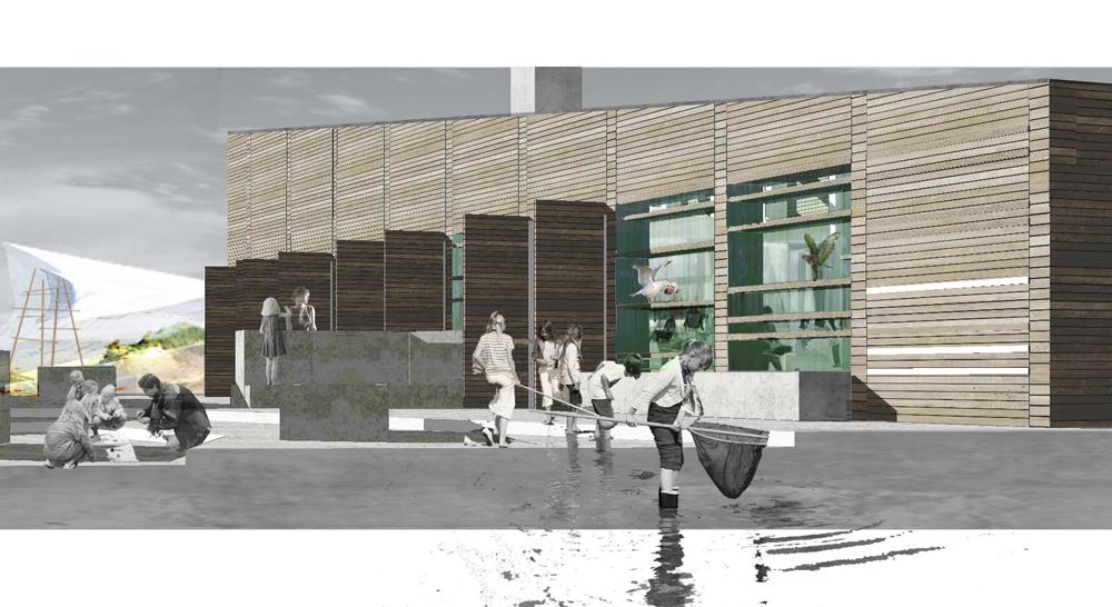 Naturcenter_Stemning fra Stejlepladsen_fra skitseforslag