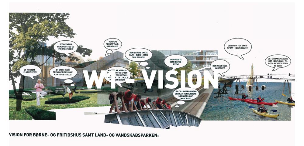 Visionen præsenteret for brugerne