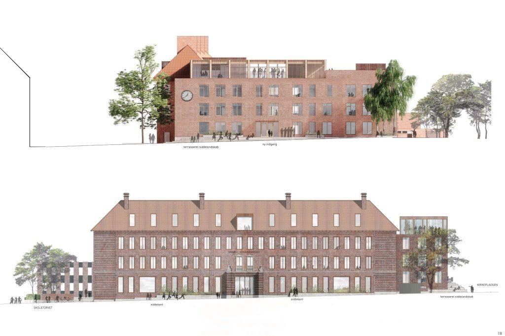 Facade mod Frødings Allé/ Facade mod Soborg Hovedgade_Dispositionsforslag