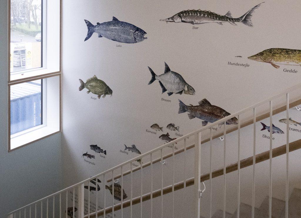 Udmykning i trappeopgang_Frits A.Laurvig